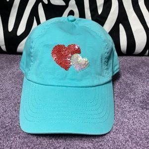 3/$12- Aeropostale Blue Hearts Cap